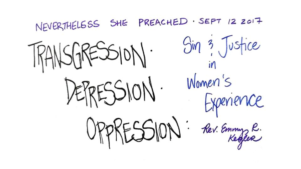 NSP Sin & Justice in Women's Experience Slide 1