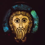 Head of Christ, from the Abbey Church of SS. Peter and Paul in Wissembourg, c.1070 (stained glass)